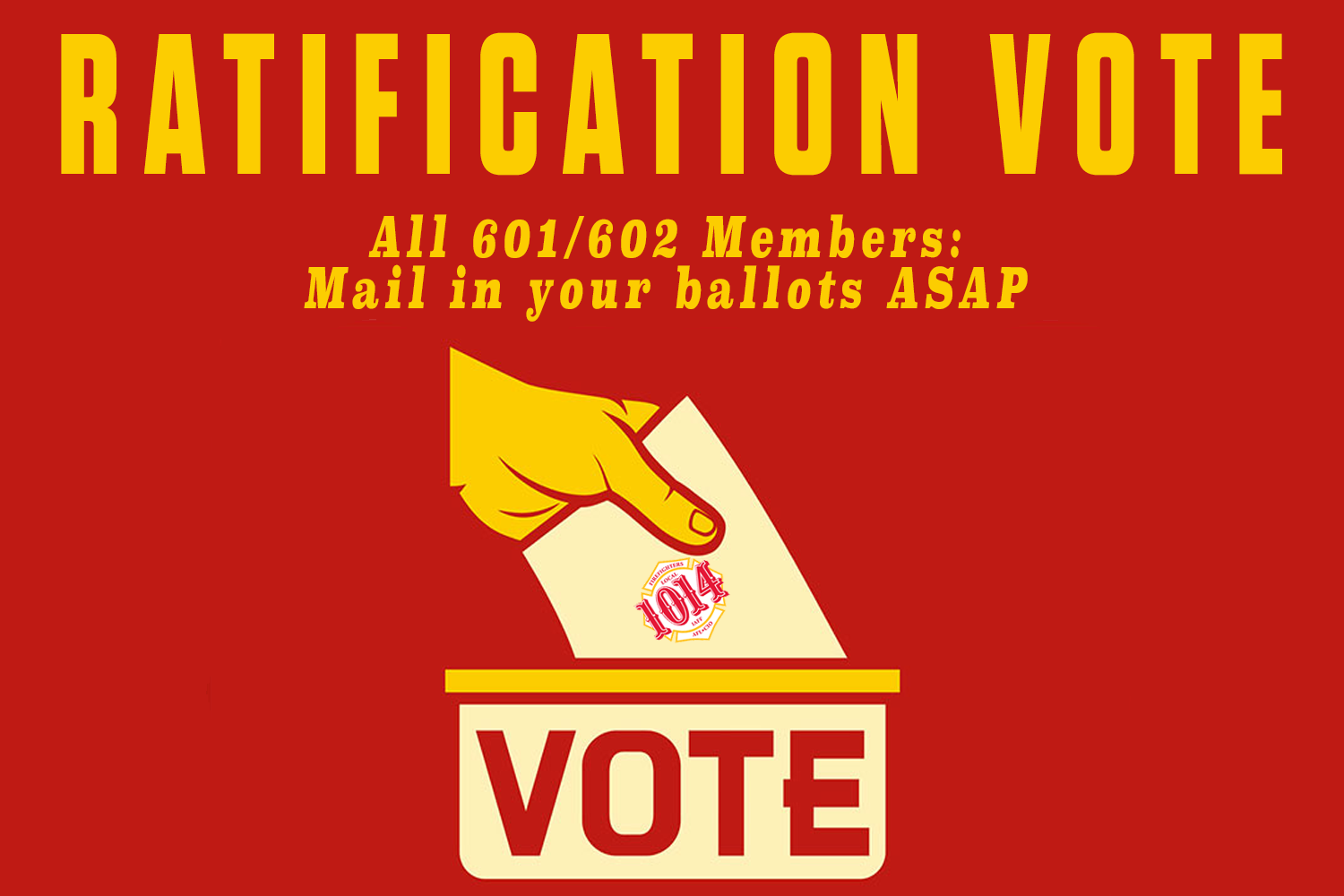 """The Local 1014 Executive Board is recommending a """"YES""""vote on this  contract. We believe it is a fair and rich contract that reflects the value  of our ..."""